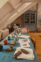 France, Manche (50), Cotentin, Cap de la Hague, Omonville-la-Petite, maison de Jacques Prévert -Le Bureau // France, Manche, Cotentin, Cap de la Hague, Omonville la Petite, house of Jacques Prevert, the office