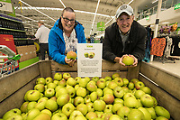 Paula and Gordon Bramley pick their namesake apples. They now live in Arnold, although Gordon originally comes from Southwell, home of the Bramley Apple