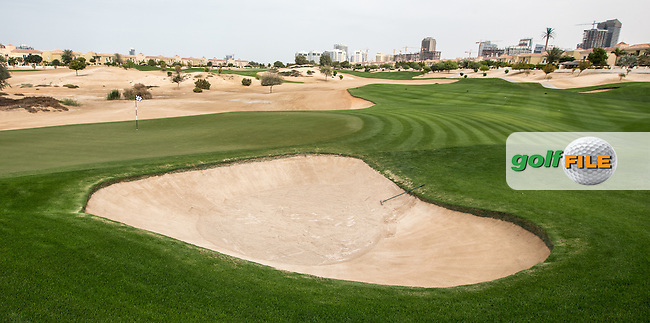 8th green at The Els Club , Dubai, United Arab Emirates.  28/01/2016. Picture: Golffile   David Lloyd<br /> <br /> All photos usage must carry mandatory copyright credit (&copy; Golffile   David Lloyd)