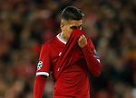 Roberto Firmino of Liverpool dejected during the Champions League Group E match at the Anfield Stadium, Liverpool. Picture date 13th September 2017. Picture credit should read: Simon Bellis/Sportimage