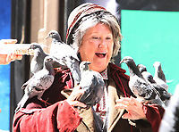 NEW YORK, NY - JUNE 4: Pigeons Stunt Lady,Tituss Burgess on the set of  Unbreakable Kimmy Schmidt in New York City on June 04, 2018. <br /> CAP/MPI/RW<br /> &copy;RW/MPI/Capital Pictures