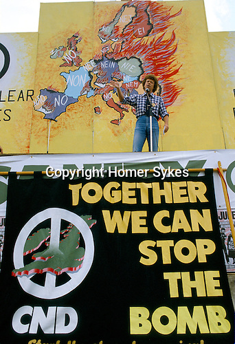 Demonstration CND Campaign Nuclear Disarmament London to Hyde Park 1982  against the conflict in the Falklands. CND women march against war in the Falklands through streets London.