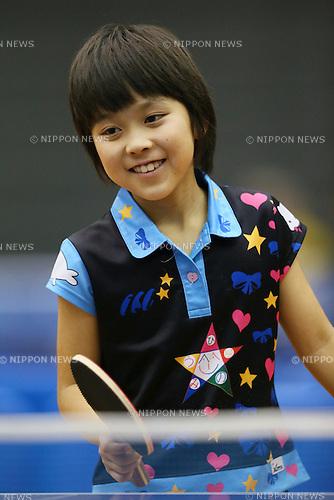 Ako Hirano, <br /> JULY 27, 2013 - Table Tennis : <br /> All Japan Table Tennis Championships <br /> Women's Cub Singles <br /> at Green Arena Kobe, Hyogo, Japan. <br /> (Photo by YUTAKA/AFLO SPORT)