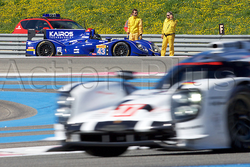 28.03.2015.  Le Castellet, France. World Endurance Championship Prologue Day 2. Team Sard Racing Dome S103 Nissan driven by Pierre Ragues, Oliver Webb and Tristan Vautier stops on track as testing continues.