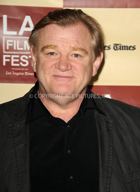 WWW.ACEPIXS.COM . . . . .  ....June 22 2011, Los Angeles....Actor Brendan Gleeson arriving at the Los Angeles Film Festival Premiere of 'The Guard' at the Regal Cinemas L. A. Live on June 22, 2011 in Los Angeles, California.....Please byline: PETER WEST - ACE PICTURES.... *** ***..Ace Pictures, Inc:  ..Philip Vaughan (212) 243-8787 or (646) 679 0430..e-mail: info@acepixs.com..web: http://www.acepixs.com