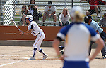 Western Nevada College's Meghan Hospodka bats against the College of Southern Nevada on Friday, May 2, 2014, in Carson City, Nev.<br /> Photo by Cathleen Allison/Nevada Photo Source