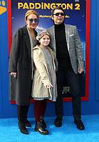 6 January 2018 - Los Angeles, California - Lou Diamond Philipp with wife Yvonne Boismier Phillips and daughter Indigo Sanara Phillips. &ldquo;Paddington 2&rdquo; L.A. Premiere held at the Regency Village Theatre.     <br /> CAP/ADM<br /> &copy;ADM/Capital Pictures