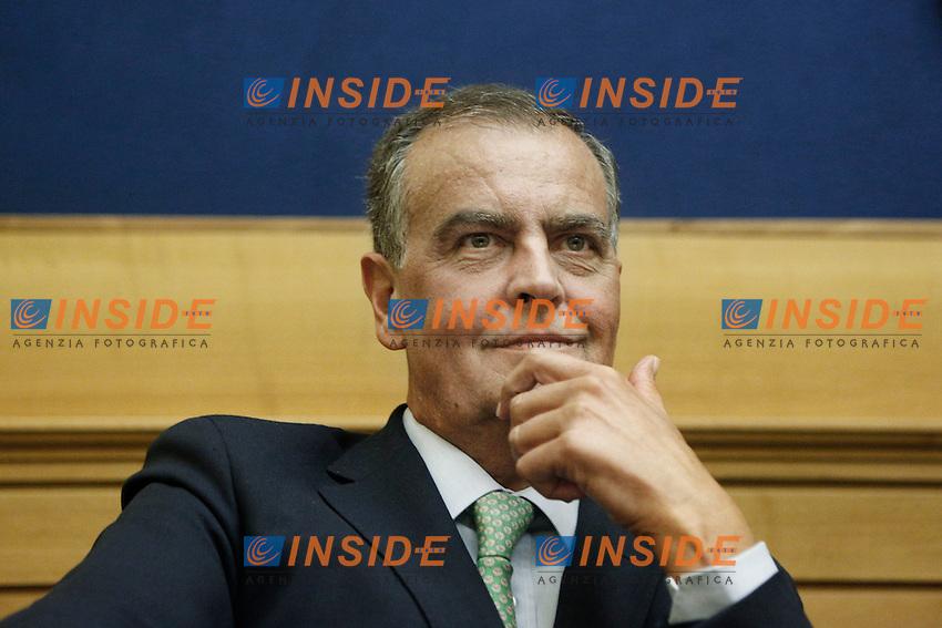 Roberto Calderoli.Roma 06/09/2012 Lega Nord - Presentazione dei referendum per una UE delle regioni e una nuova Eurozona.Foto Serena Cremaschi Insidefoto