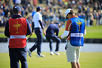 Caddies during the Saturday Fourballs at the Ryder Cup, Le Golf National, Paris, France. 29/09/2018.<br /> Picture Phil Inglis / Golffile.ie<br /> <br /> All photo usage must carry mandatory copyright credit (© Golffile | Phil Inglis)