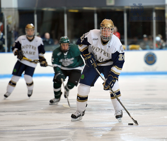 2009-10 Hockey #26 Nick Larson..Photo by Matt Cashore/University of Notre Dame