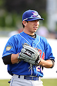 June 18th 2008:  Jon Del Campo of the Auburn Doubledays, Class-A affiliate of the Toronto Blue Jays, during a game at Dwyer Stadium in Batavia, NY.  Photo by:  Mike Janes/Four Seam Images