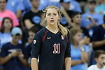 10 September 2015: Stanford's Sidney Brown. The University of North Carolina Tar Heels hosted the Stanford University Cardinal at Carmichael Arena in Chapel Hill, NC in a 2015 NCAA Division I Women's Volleyball contest. North Carolina won the match 25-17, 27-25, 25-22.