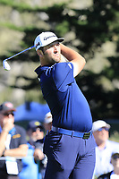 Jon Rahm (ESP) tees off the 17th tee at Pebble Beach course during Friday's Round 2 of the 2018 AT&amp;T Pebble Beach Pro-Am, held over 3 courses Pebble Beach, Spyglass Hill and Monterey, California, USA. 9th February 2018.<br /> Picture: Eoin Clarke | Golffile<br /> <br /> <br /> All photos usage must carry mandatory copyright credit (&copy; Golffile | Eoin Clarke)
