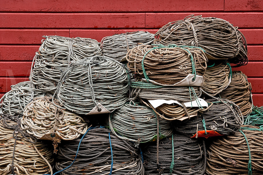 Rope used on fishing boats, Icy Straight Point, AK, Alaska