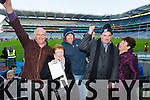 John Kissane Kay Kissane, Declan Wallace, Frank Wallace and Marie Wallace  Ardfert supporters at the Intermediate All Ireland Club Final in Croke Park on Saturday.