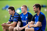 Charlie Ewels, Sam Underhill and Luke Charteris of Bath Rugby look on. Bath Rugby pre-season training on August 14, 2018 at Farleigh House in Bath, England. Photo by: Patrick Khachfe / Onside Images