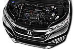 Car Stock 2015 Honda CR-V Elegance 5 Door SUV Engine  high angle detail view