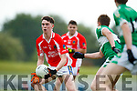 Rob Ó Sé West Kerry in action against Danny Sheahan Legion in the Quarter Final of the Kerry Senior County Championship at Austin Stack Park on Sunday.