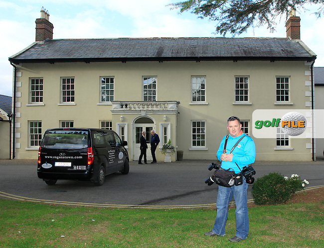 Golffile photographer Fran Caffrey during Round 4 of The Cassidy Golf 103rd Irish PGA Championship in Roganstown Golf Club on Sunday 13th October 2013.<br /> Picture:  Thos Caffrey / www.golffile.ie