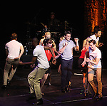 Jonathan Groff & Ensemble.performing in 'MISCAST 2012' MCC Theatre's Annual Musical Spectacular at The Hammerstein Ballroom in New York City on 3/26/2012.