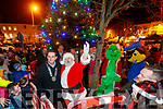 Mayor Jimmy Moloney and Santa at the turning on the Christmas lights at Listowel on Saturday evening.