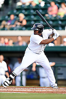 Lakeland Flying Tigers designated hitter Lance Durham (32) during a game against the Tampa Yankees on April 5, 2014 at Joker Marchant Stadium in Lakeland, Florida.  Lakeland defeated Tampa 3-0.  (Mike Janes/Four Seam Images)