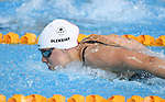 Penny Oleksiak (CAN) in the womens 100m butterfly semi-final heat 1. Swimming finals. XXI Commonwealth games. Optus Aquatics Centre. Gold Coast 2018. Queensland. Australia. 05/04/2018. ~ MANDATORY CREDIT Garry Bowden/SIPPA - NO UNAUTHORISED USE - +44 7837 394578
