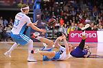 League ACB-ENDESA 2018/2019. Game: 14.<br /> FC Barcelona Lassa vs Monbus Obradoiro: 79-73.<br /> Kyle Singler, Tryggvi Hlinason &amp; Adam Hanga.