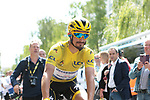 New race leader Yellow Jersey Julian Alaphilippe (FRA) Deceuninck-Quick Step arrives at sign on before the start of Stage 4 of the 2019 Tour de France running 213.5km from Reims to Nancy, France. 9th July 2019.<br /> Picture: Colin Flockton | Cyclefile<br /> All photos usage must carry mandatory copyright credit (© Cyclefile | Colin Flockton)