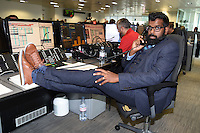 Romnesh Ranganathan<br /> on the trading floor for the BGC Charity Day 2016, Canary Wharf, London.<br /> <br /> <br /> &copy;Ash Knotek  D3152  12/09/2016