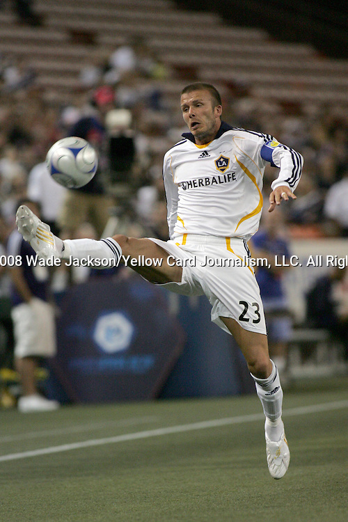 20 February 2008:  David Beckham (23) of the LA Galaxy.  The LA Galaxy of the USA was defeated by Gamba Osaka of Japan 0-1 during the opening match of the 2008 Pan Pacific Championship held at Aloha Stadium in Honolulu, Hawaii.