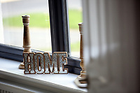 Pictured: Home ornaments on a window sill Wednesday 26 April 2017<br /> Re: Waterstone Homes' most recent property development Howell's Reach, is in Derwen Fawr, Swansea and is made up of 13 luxury family homes, and also includes five affordable homes.