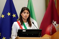 Mayor of Rome Virginia Raggi<br /> Roma 28/09/2017. Campidoglio. Terza Conferenza nazionale sulla famiglia<br /> Rome September 28th 2017. 'Third Conference about Family'<br /> Foto Samantha Zucchi Insidefoto