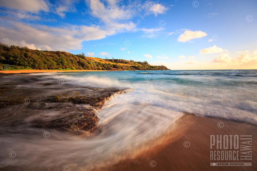 The dynamic flow of the ocean seen at Moloa'a Bay, Kaua'i.