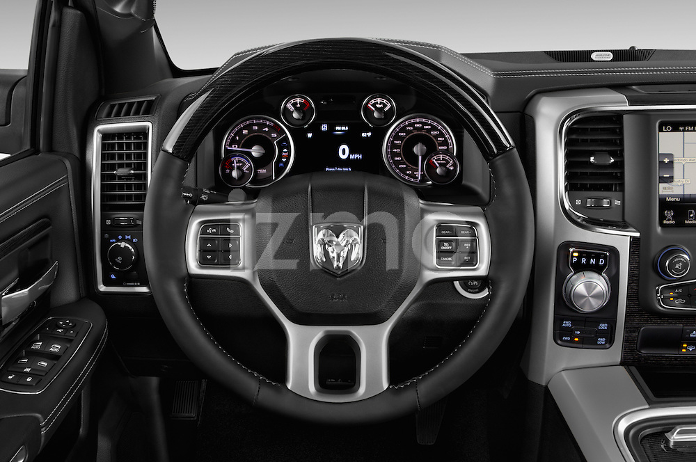 Car pictures of steering wheel view of a 2016 Ram 1500 Laramie-Limited-Crew 4 Door Pickup Steering Wheel