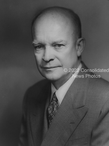 Washington, DC - Undated file photo --  1952 official photo of United States President Dwight D. Eisenhower..Credit: LOC / CNP