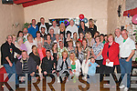 NIFTY FIFTY: Sammy Locke (seated centre) celebrating his 50th birthday at the Greyhound B on Saturday night with his wife Ann, daughters, Catriona and Samantha, family and friends.   Copyright Kerry's Eye 2008