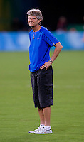 Pia Sundhage. The USWNT defeated Canada in extra time, 2-1, during the 2008 Beijing Olympics in Shanghai, China.