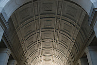 AVAILABLE FROM JEFF FOR EDITORIAL LICENSING.<br /> <br /> AVAILABLE FROM JEFF AS A FINE ART PRINT.<br /> <br /> Upward View of the Central Arch at New York City's Municipal Building, 1 Centre Street, Civic Center, Lower Manhattan, New York City, New York State, USA