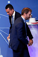 Luigi Di Maio and Davide Casaleggio<br /> Rome January 22nd 2019. Convention of the Movement 5 Stars party to explain the Basic Income Law just approved.<br /> Foto Samantha Zucchi Insidefoto