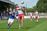 Ben Kennedy of Stevenage and Jay Harris of Tranmere Rovers during Stevenage vs Tranmere Rovers, Sky Bet EFL League 2 Football at the Lamex Stadium on 4th August 2018