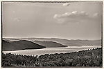 A storm viewed from the Enfield Lookout at the Quabbin Reservoir in Massachusetts