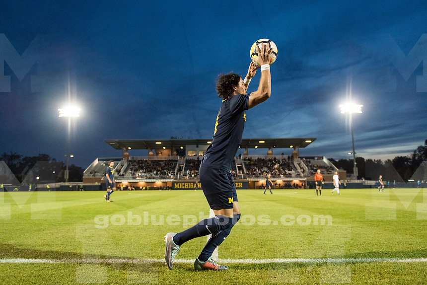 Michigan men's soccer defeats Cleveland State, 3-1, at U-M Soccer Stadium in Ann Arbor, MI on September 1, 2017.
