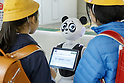 Panda Robot Pepper debuts as new staff member in Ueno Station