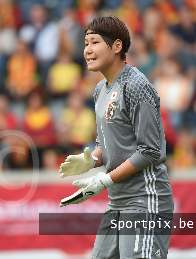 20170613 - LEUVEN ,  BELGIUM : Japanese Erina Yamane pictured during the female soccer game between the Belgian Red Flames and Japan , a friendly game before the European Championship in The Netherlands 2017  , Tuesday 13 th Juin 2017 at Stadion Den Dreef  in Leuven , Belgium. PHOTO SPORTPIX.BE | DIRK VUYLSTEKE