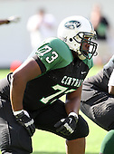Miami Central Rockets lineman Trevor Darling #73 during the first quarter of the Florida High School Athletic Association 6A Championship Game at Florida's Citrus Bowl on December 17, 2011 in Orlando, Florida.  The score at halftime is Armwood 16 - Miami Central 14.  (Photo By Mike Janes Photography)
