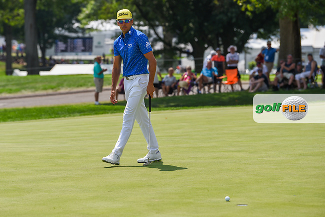 Rafael Cabrera Bello (ESP) barely misses his birdie attempt on 9 during 4th round of the World Golf Championships - Bridgestone Invitational, at the Firestone Country Club, Akron, Ohio. 8/5/2018.<br /> Picture: Golffile | Ken Murray<br /> <br /> <br /> All photo usage must carry mandatory copyright credit (© Golffile | Ken Murray)