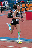 Liberty High School freshman Kaitlyn Lewis runs to a seventh-place finish in the 400-meter dash in 58.18 at the 2015 Kansas Relays in Lawrence, Ks. Friday, April 17.