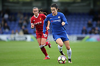 Karen Carney of Chelsea Ladies races upfield during Chelsea Ladies vs Liverpool Ladies, FA Women's Super League FA WSL1 Football at Kingsmeadow on 7th October 2017
