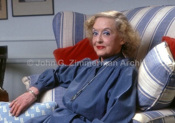 Bette Davis, at home in Los Angeles, 1980. Photo by John G. Zimmerman.